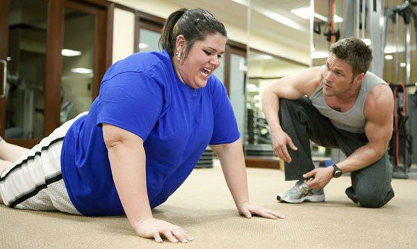 Obese people with exercise